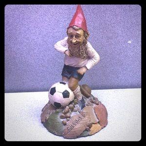 Soccer Charlie gnome by Tom Clark